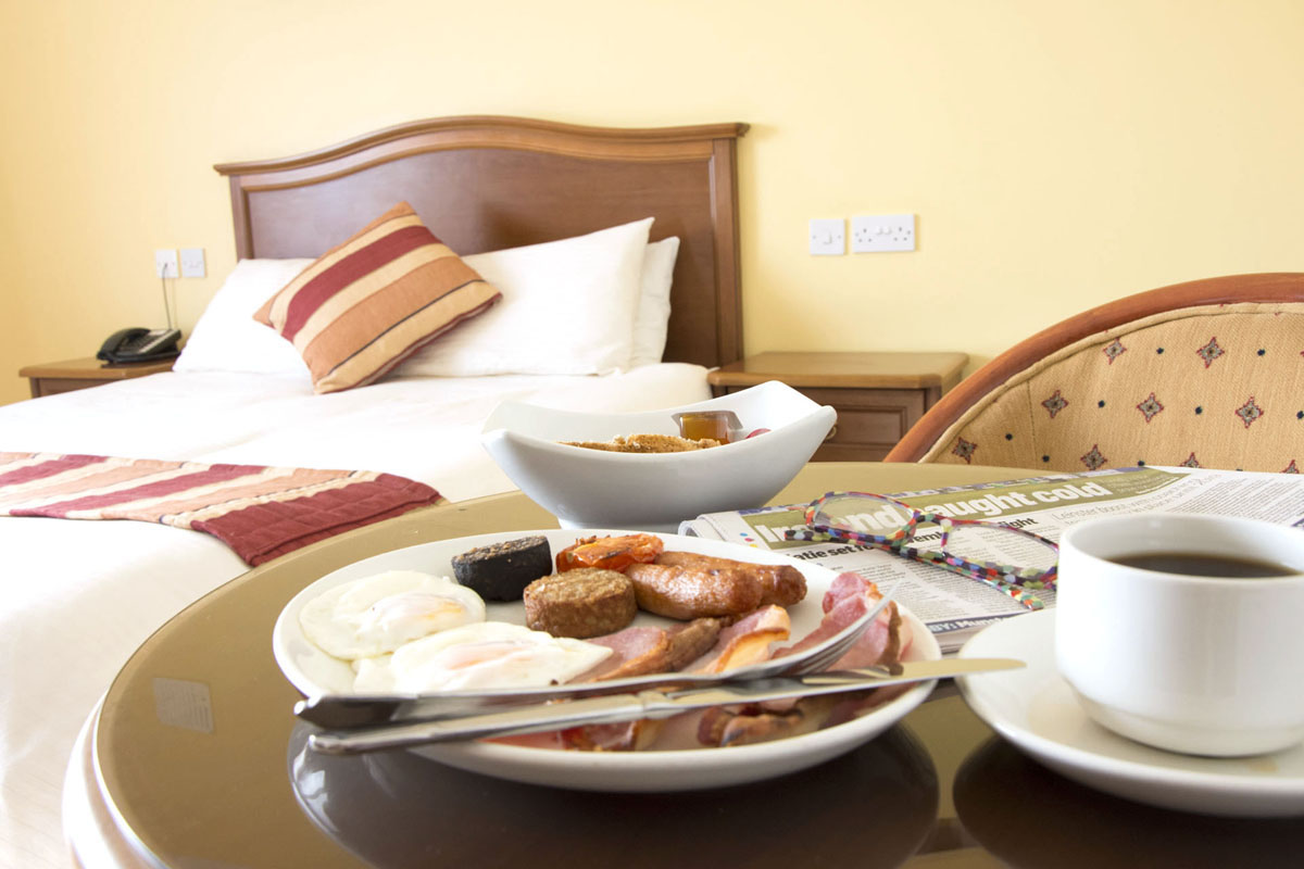 Breakfast in Bed | Luxury Accommodations | Full Irish and morning paper